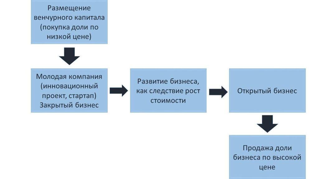 Венчурные инвестиции это капиталовложения для получения прибыли: схема