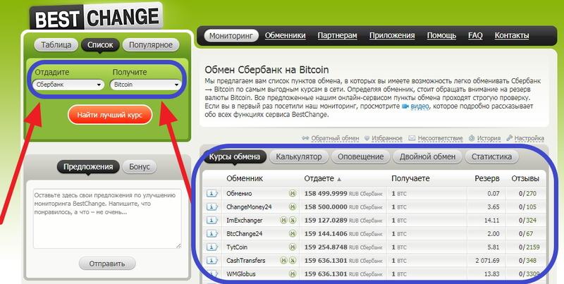 Биткоин купить онлайн можно на обменном сервисе
