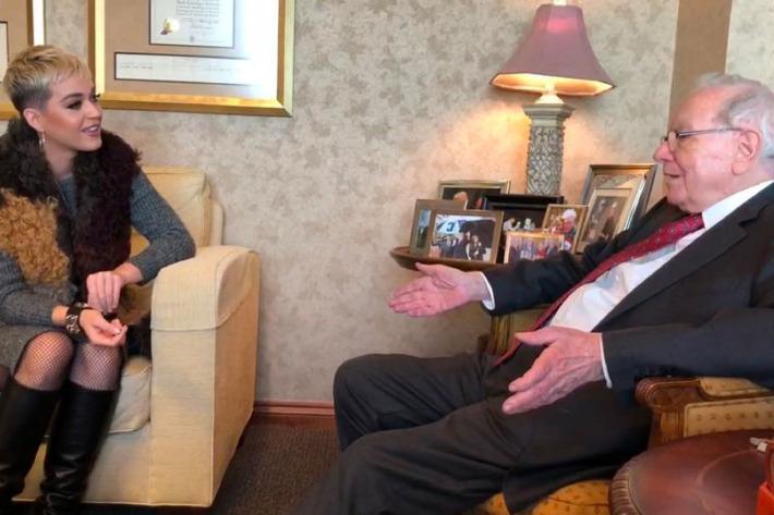 Кэтти Пэри в гостях у миллиардера интересуется курсом биткоина