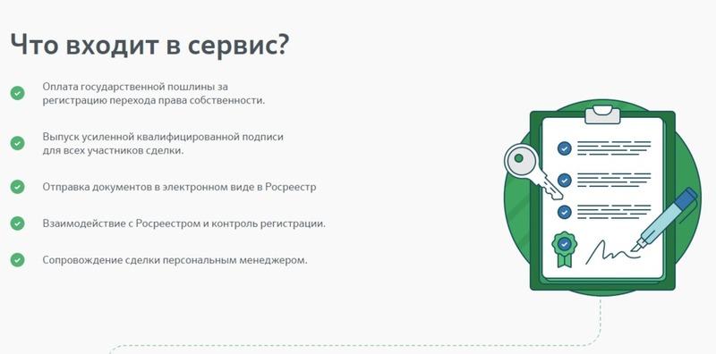 Услуги при электронной регистрации сделки по ипотеке в Сбербанке