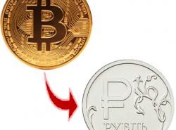 как перевести биткоины в рубли