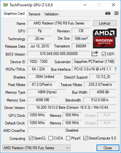 Geforce GTX 1070 характеристики