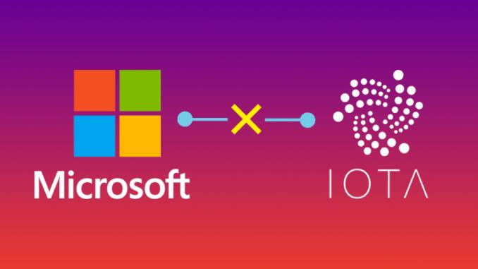 Криптовалюта iota получила поддержку от microsoft