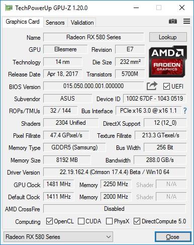 Видеокарта Radeon RX580 для майнинга