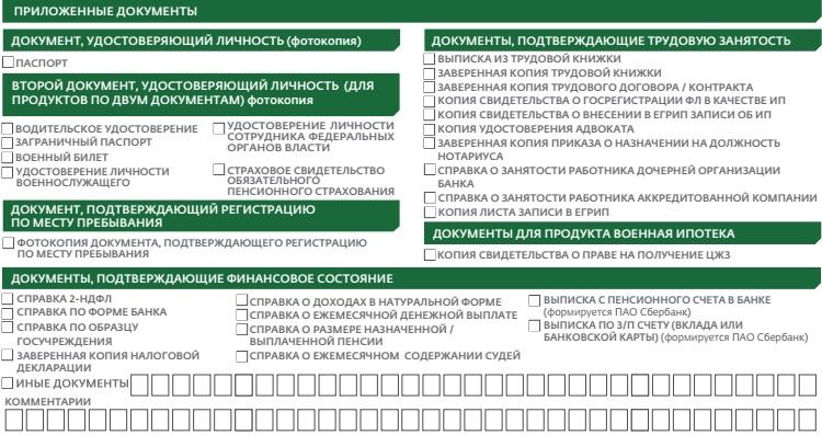Список документов для рефинансирования ипотеки в Сбербанке