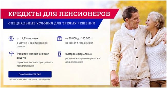 Кредиты для пенсионеров в Почта Банке и их условия